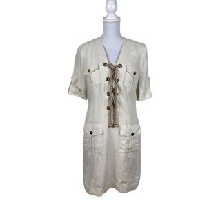 Milly Rope Laced Shirt Dress